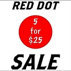 Other - 🔴🔴5 for $25 all red dot items!!!🔴🔴